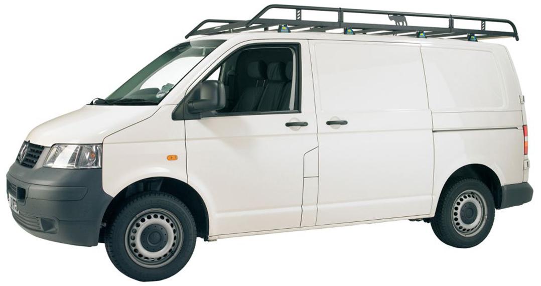 Vw T5 Transporter Rhino Van Roof Rack Swb Twin Rear Door