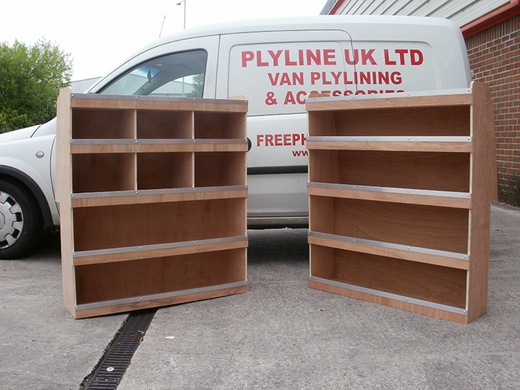 2008 onwards swb berlingo partner ply shelving system for Van ply lining templates