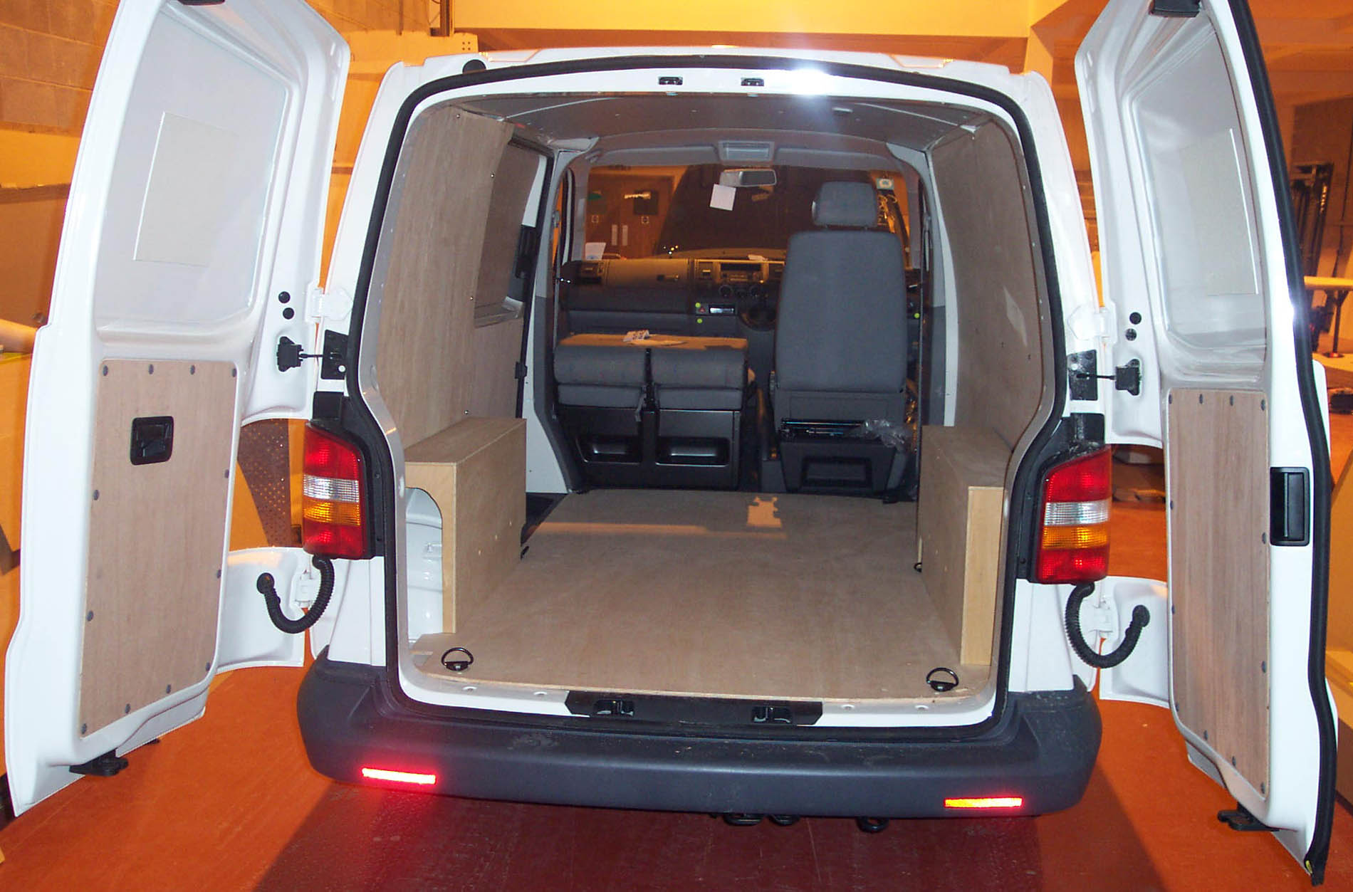 Vw t5 long wheel base transporter van ply lining kit for Van ply lining templates