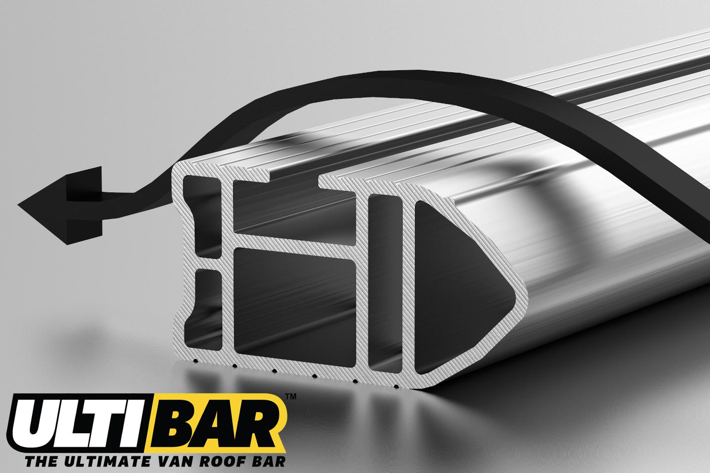 3 Bar Heavy Duty Aluminium Bars For The 2014 On Transit