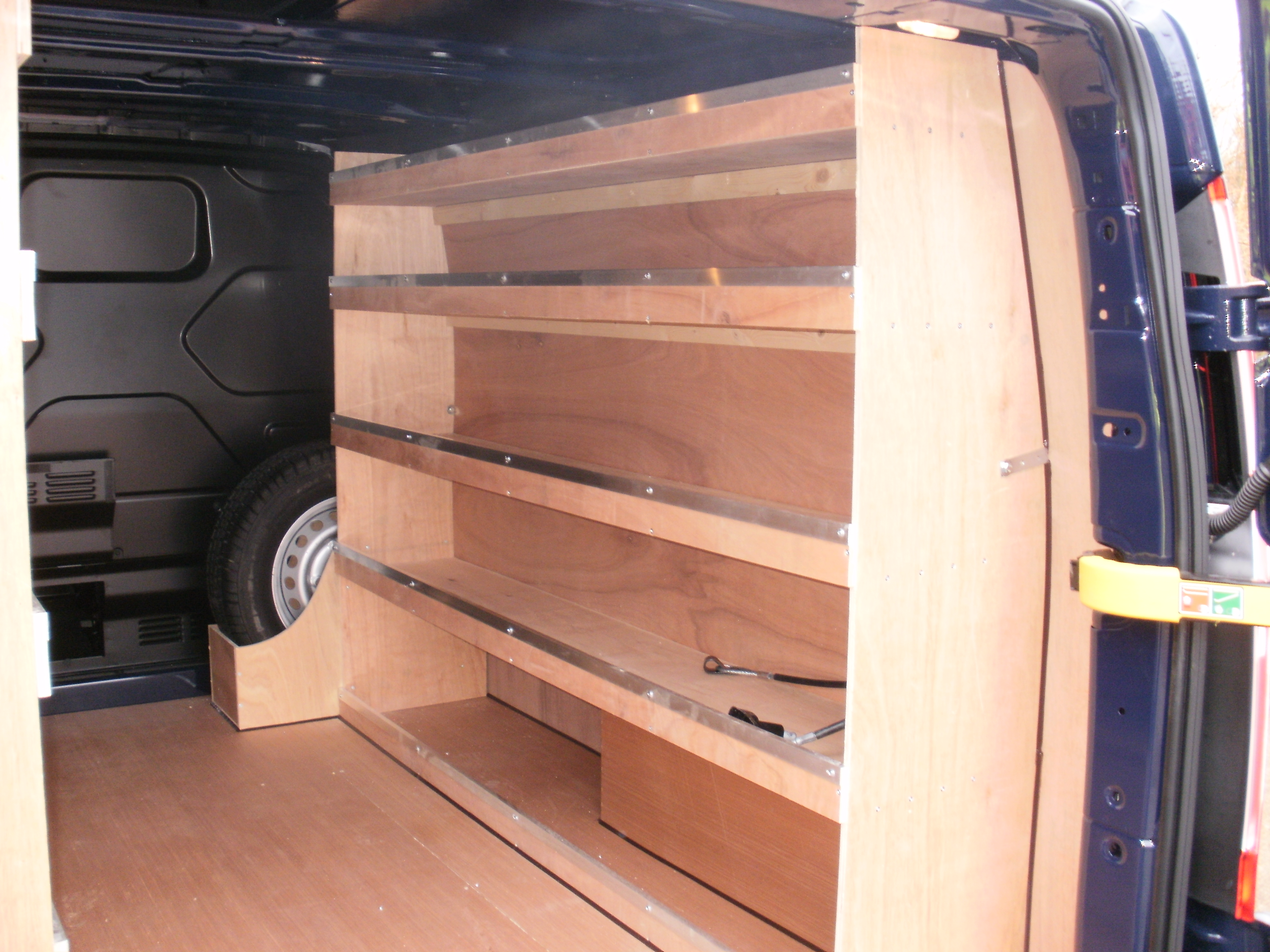 Swb Transit Custom Drivers Side Plywood Shelving Plyline