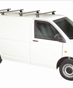 Volkswagen VW T5 Rhino 4 Bar Van Roof Bars System Using T Track Lwb Tailgate Rear Door T54TD-B44