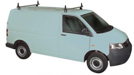 Volkswagen VW T5 Rhino 2 Bar Van Roof Bars System Using T Track Lwb Tailgate Rear Door T52TD-B42
