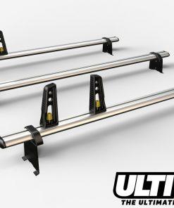 3 Bar Heavy Duty Aluminium Roof Bars For The Toyota Hiace 2002 On VG133/3