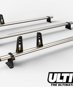 3 Bar Heavy Duty Aluminium Roof Bars For The Renault Master Pre 2010 Van VG134/3