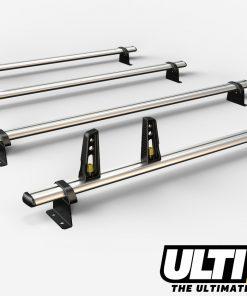 4 Bar Heavy Duty Aluminium Roof Bars For The Vauxhall Movano Pre 2010 Van VG134/4