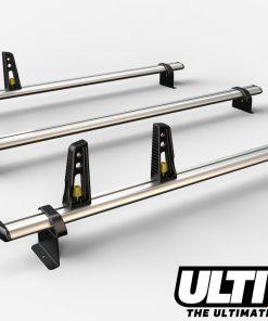 3 Bar Reinforced Aluminium Roof Bars For The Fiat Doblo Pre 2010 Van VG173