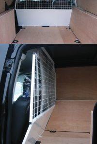 Citroen Berlingo Van 2008 On Half Solid Half Wire Mesh Bulkhead SRS