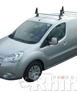 Peugeot Partner Rhino 2 Bar Van Roof Bar System 2008 On Lwb L2 GA2D-B32