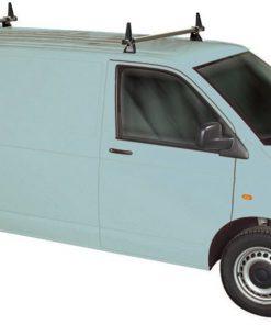 Volkswagen VW T5 Rhino 2 Bar Van Roof Bars System Using T Track Swb Twin Rear Door T52TD-B42