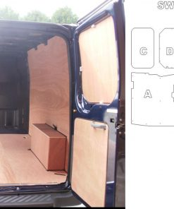 Short Wheel Base FWD Low Roof Ford Transit Plyline Kit WITHOUT SIDE RAILS - 2000 On