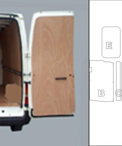 Short Wheel Base Low Roof Ford Transit Van Ply Lining Kit  WITH SIDE RAILS - 2000 On