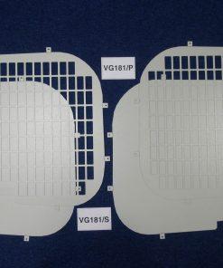 Vauxhall Vivaro Van Rear Window Grilles & Blanks - Standard Roof VG181