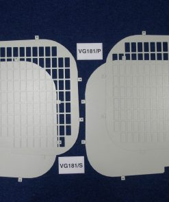 Nissan Primastar Van Rear Window Grilles & Blanks - Standard Roof VG181