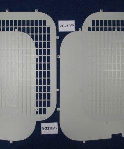 Vauxhall Vivaro Van Hi-Roof Rear Window Grilles & Blanks VG210
