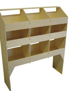 Plywood Shelving and Racking Nine Pigeon Hole Unit 300mm Deep VL100A3