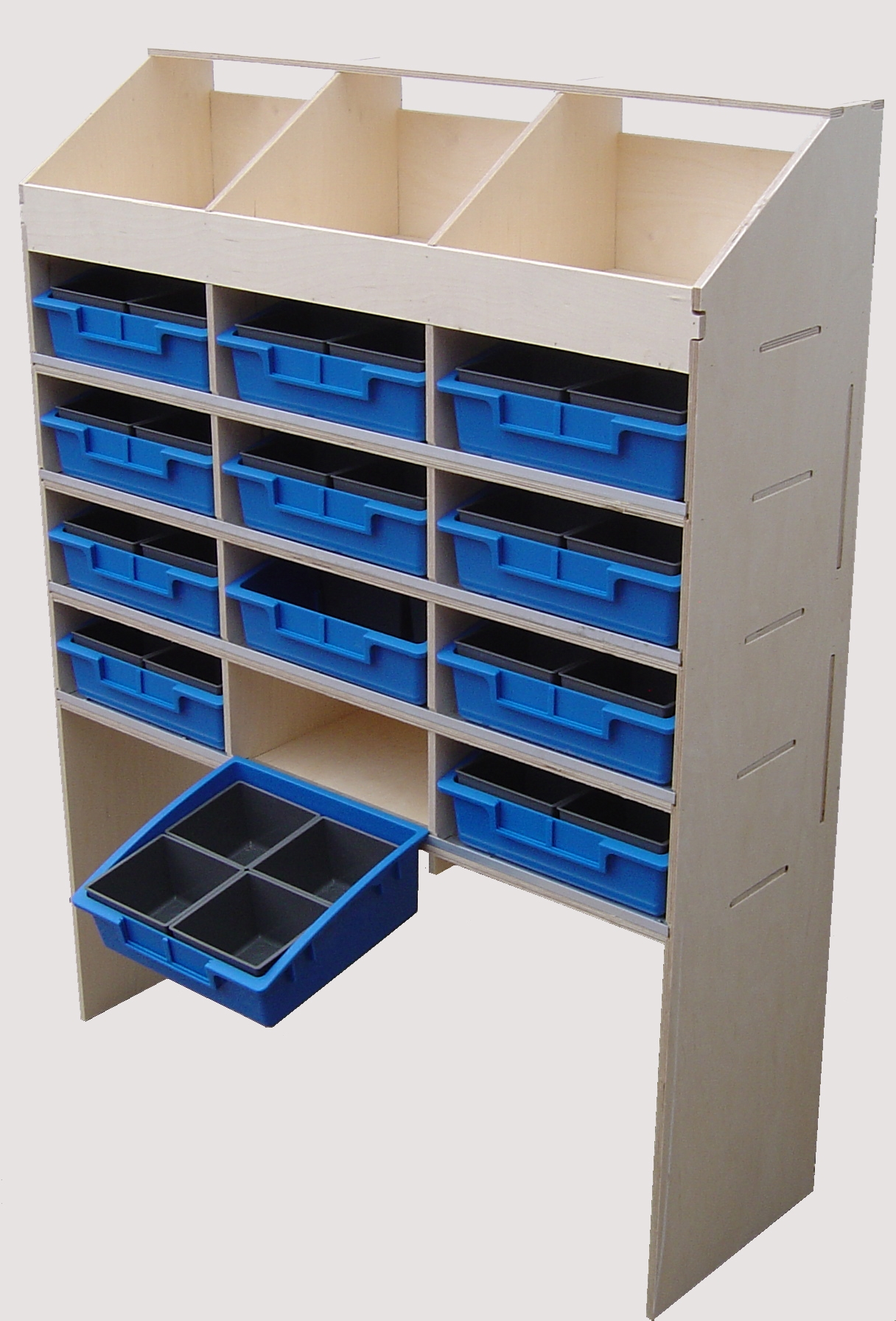 Plywood Shelving And Racking Three Pigeon Hole Unit 300mm