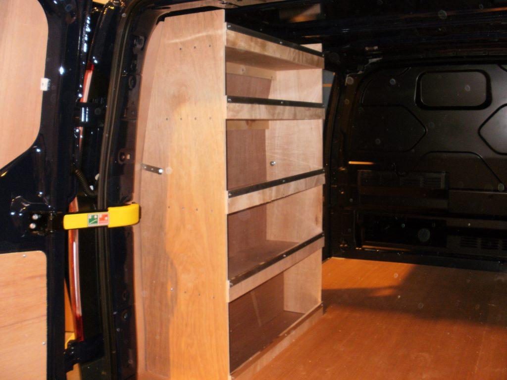 Swb Transit Custom Passenger Side Plywood Shelving
